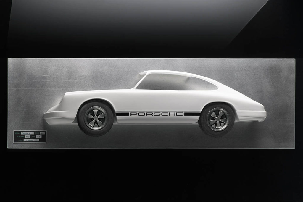Tableau 3D Porsche 911 Art Moteur 1