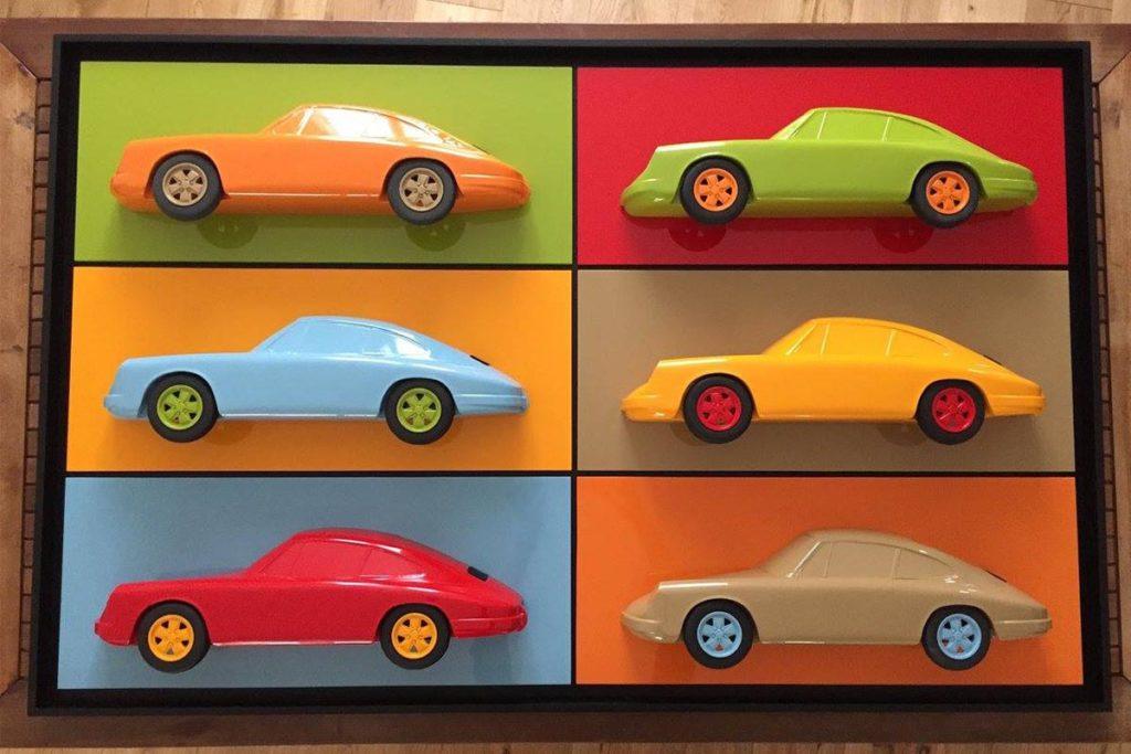 Tableau multiple 3D 6 Porsche Art Moteur 1