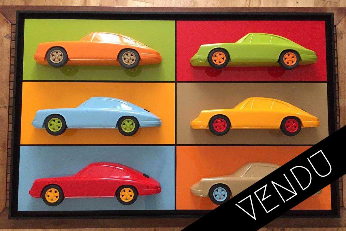 Tableau multiple 3D 6 Porsche Art Moteur 1 vendu