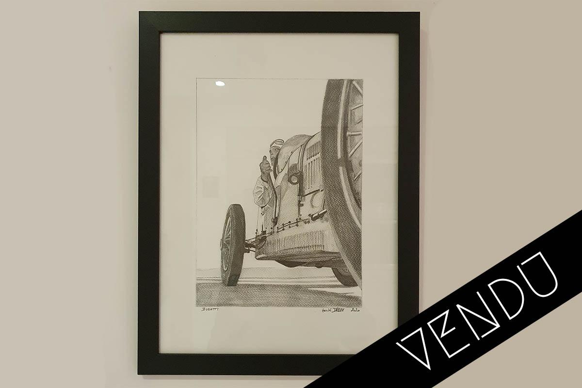 Bugatti Crayon Herve Dreux vendu