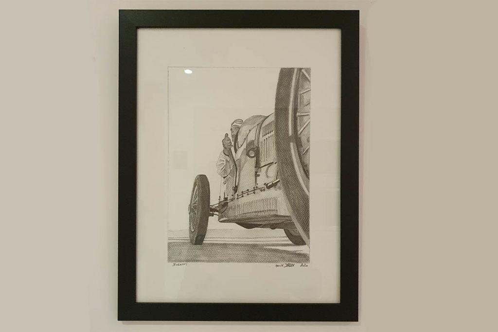 Bugatti crayon Herve Dreux