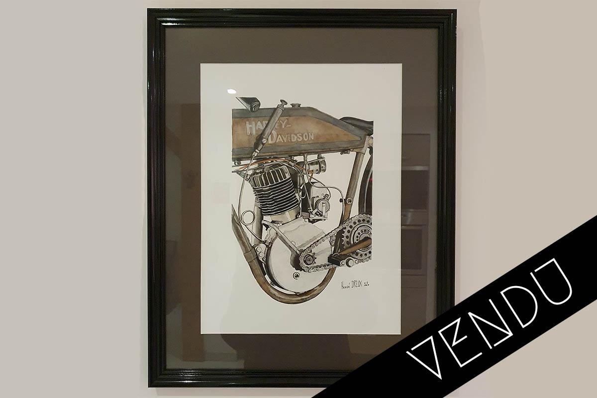 Moteur Harley Davidson monocylindre Herve Dreux vendu