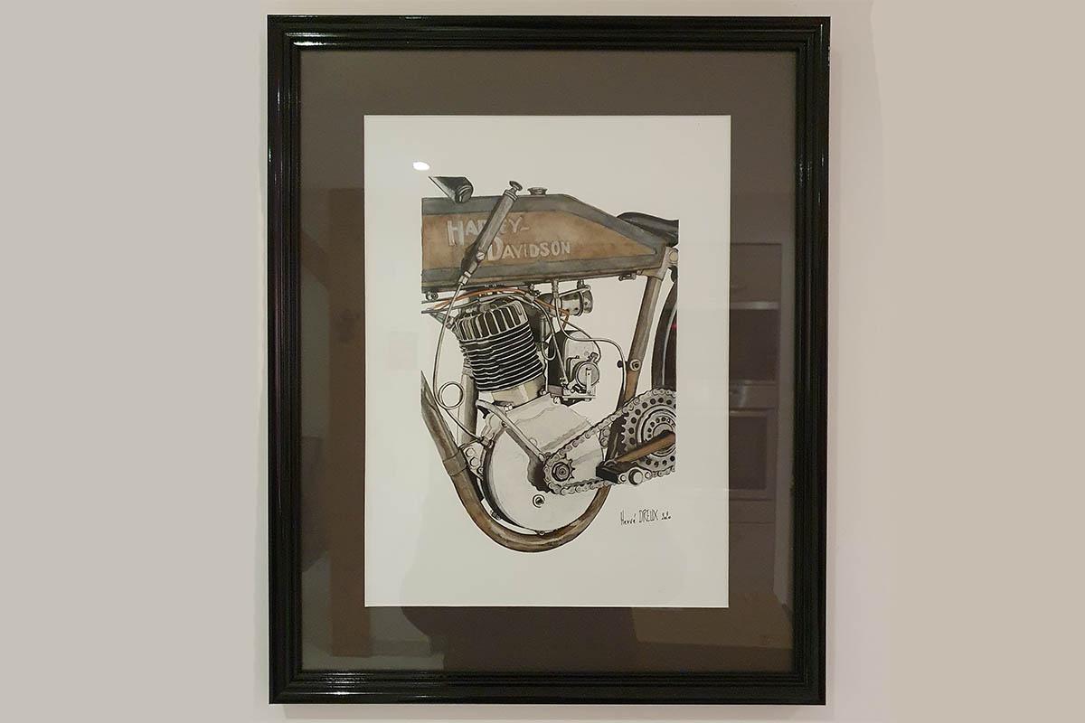 Moteur Harley Davidson monocylindre Herve Dreux