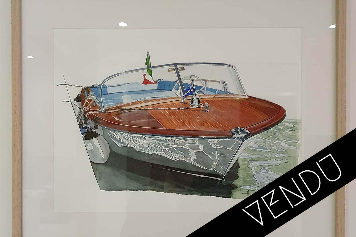 Riva Junior Herve Dreux vendu art moteur