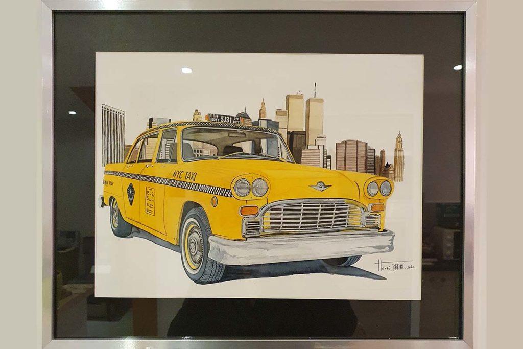 Yellow Cab Checker Herve Dreux