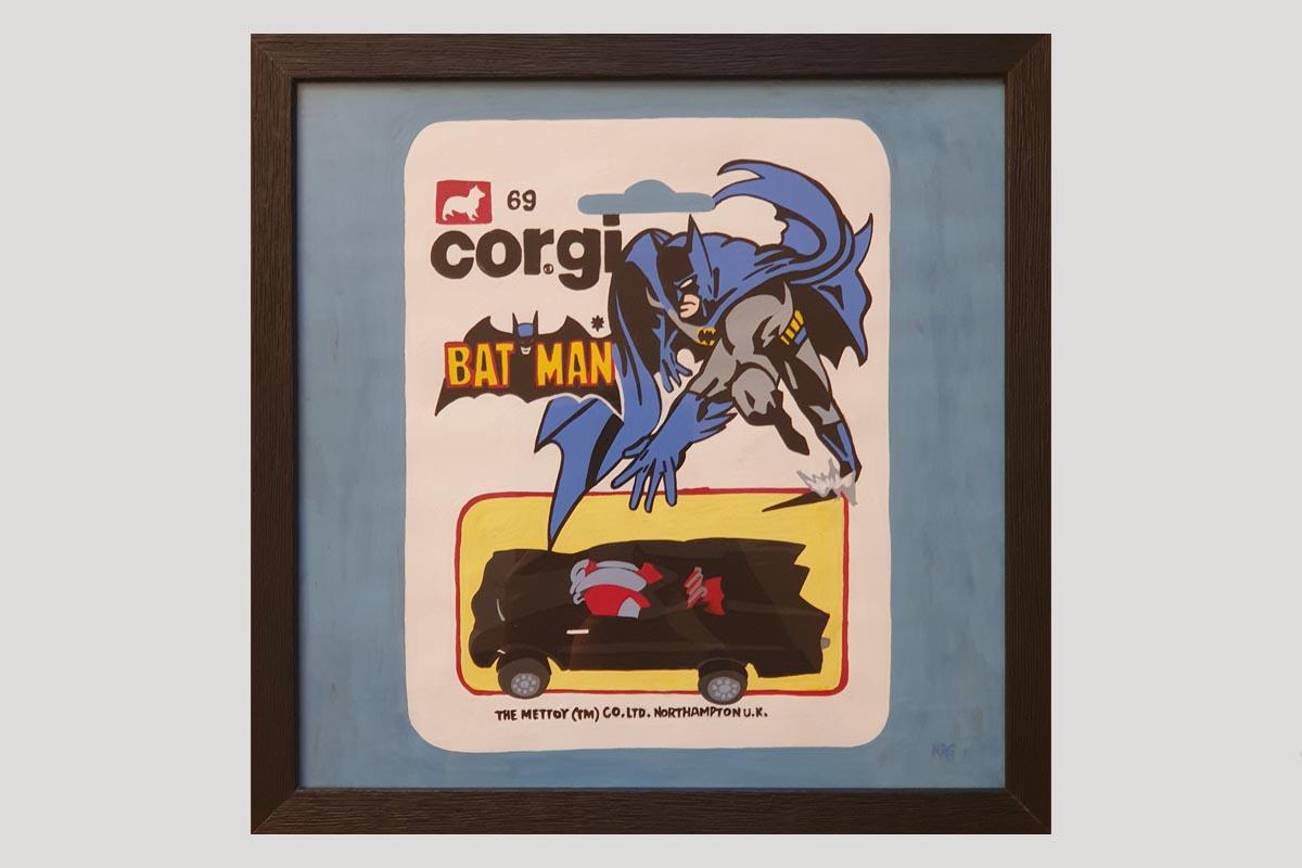 Batman Numa Roda Gil Art Moteur