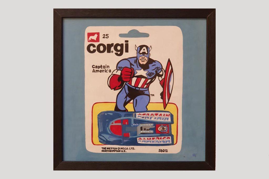 Captain America Numa Roda Gil Art Moteur
