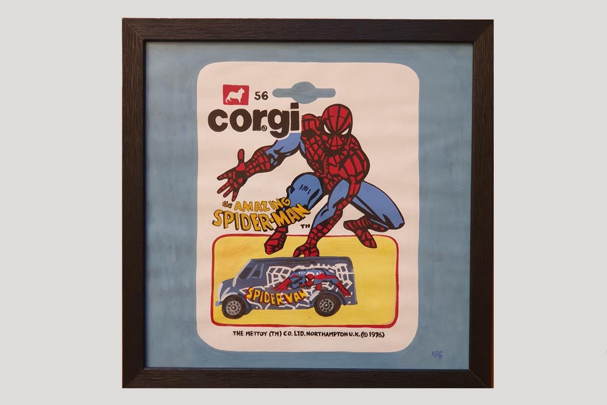 Spiderman Numa Roda Gil Art Moteur