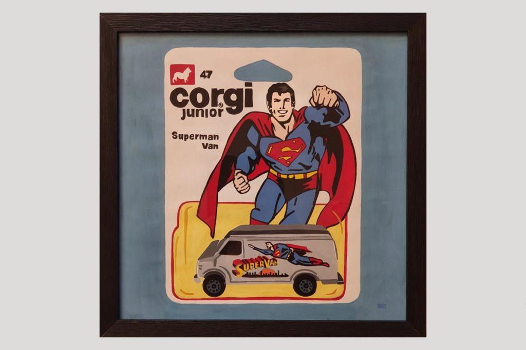 Superman Numa Roda Gil Art Moteur