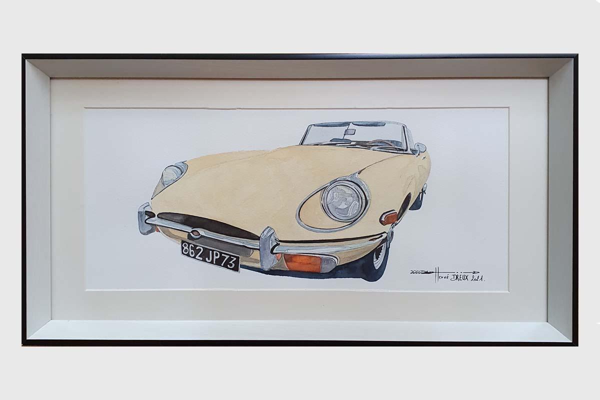 Jaguar beige herve dreux art moteur